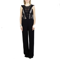 LONG JUMPSUIT ENVERSE SATIN C/LACE