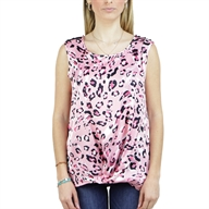 TOP FANTASY ANIMALIER PRINT C/STUDS