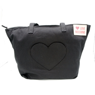 BORSA DENIM NERO