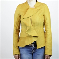 RUFFLED JACKET GOLDENYELLOW