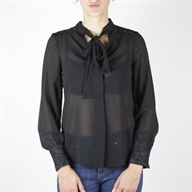 FLARE BLOUSE BLACK