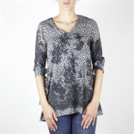 3/4 FLARE TOP GREYBLACK