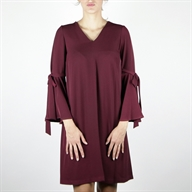 A LINE DRESS BORDEAUX