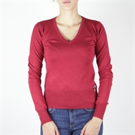 V  NECK PULL DARKRED