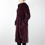 FAKE FUR COAT VIOLET