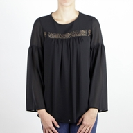 FLARE TOP BLACK