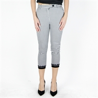 SLIM PANT BLACKCREAM