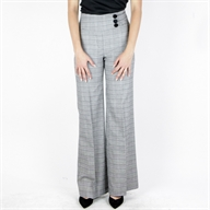 FLARE H/W PANT BLACKCREAM