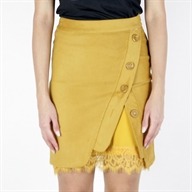 FAKE CROSSED SKIRT GOLDENYELLOW