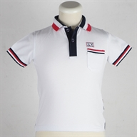 BOY'S POLO 3 STRIPES ON  COLLAR EL.