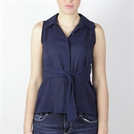 SLEEVELESS SHIRT BLUE