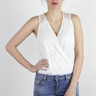 SLEEVELESS BODY WHITE