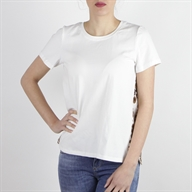 FLARE T-SHIRT OFFWHITEBROWN