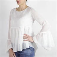 FLARE BLOUSE OFFWHITE
