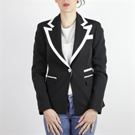 CONTRAST JACKET BLACKOFFWHITE
