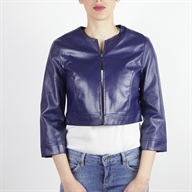 FAKE LEATHER BOLERO BLUENAVY