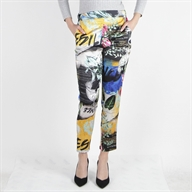 PRINTED SPORTY PANT ABSTRACTPRINT