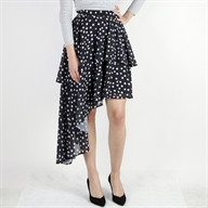 ASYMMETRIC SKIRT BLACK