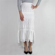 ASYMMETRIC SKIRT CREAM