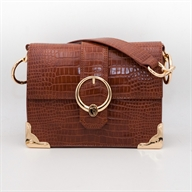 MIAMI SHOULDER SM CROCO ECOLEATHER