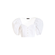 BLUSA CROPPED IN POPELINE FRACOMINA