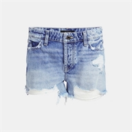 SHORTS JEANS CON ROTTURE HOLLY ZIP SHORT GUESS