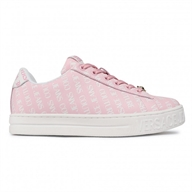 SNEAKERS IN PELLE CON LOGO ALL-OVER VERSACE JEANS COUTURE