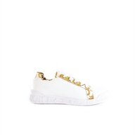 SNEAKERS IN PELLE CON INSERTI LOGO BAROQUE VERSACE JEANS COUTURE