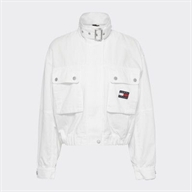 GIACCA CROP IN TELA CON DISTINTIVO TOMMY TOMMY HILFIGER