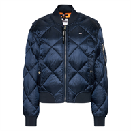 BOMBER ESSENTIAL TRAPUNTATO A ROMBI TOMMY HILFIGER