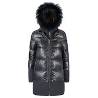 CAPPOTTO DONNA TRAPUNTATO CON FINTO GILET YESZEE